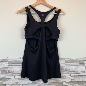 Lululemon workout double tank top in size 8